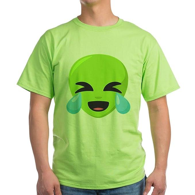 Amazon.com: CafePress Alien Laughing Emoji Light T Shirt 100 ...