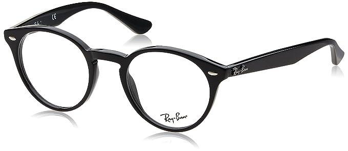 73b4f75503 Ray-Ban RX2180V Glasses in Gloss Black RX2180V 2000 47  Amazon.co.uk   Clothing