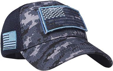 ACEBABY Bandera Americana Bordado Gorra de béisbol Verano Malla ...