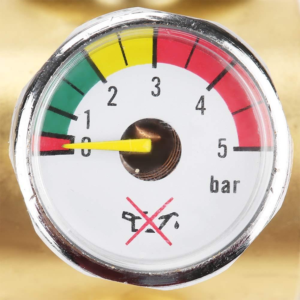Acetylene Pressure Gauge - 0.01-0.15MPa Acetylene Gas Pressure Reducer Air Flow Regulator Gauge Meter by MLMLH (Image #5)