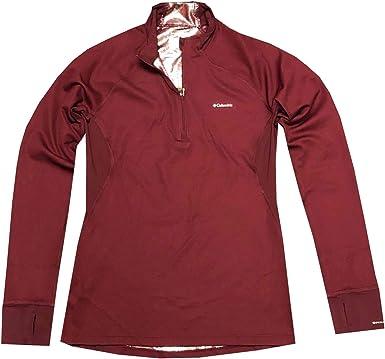 Columbia - Camiseta de manga corta con media cremallera para mujer: Amazon.es: Ropa y accesorios