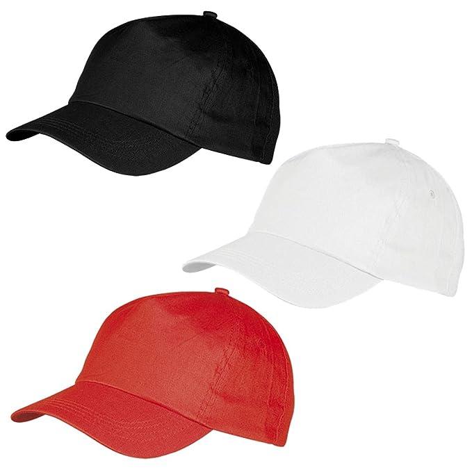 B2ACTION 3 Gorras con Visera. Con Velcro Ajustable y Tejido Resistente.  Diseño Sport Apta para Hombre y Mujer. Color Negra 72f1718cce2