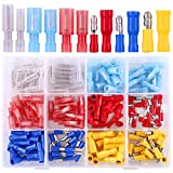 Hilitchi 150-Pcs 24-10 AWG Assorted Insulated Mixed Nylon Female Male Bullet Butt Wire Crimp Terminals Connector Assortment Kit