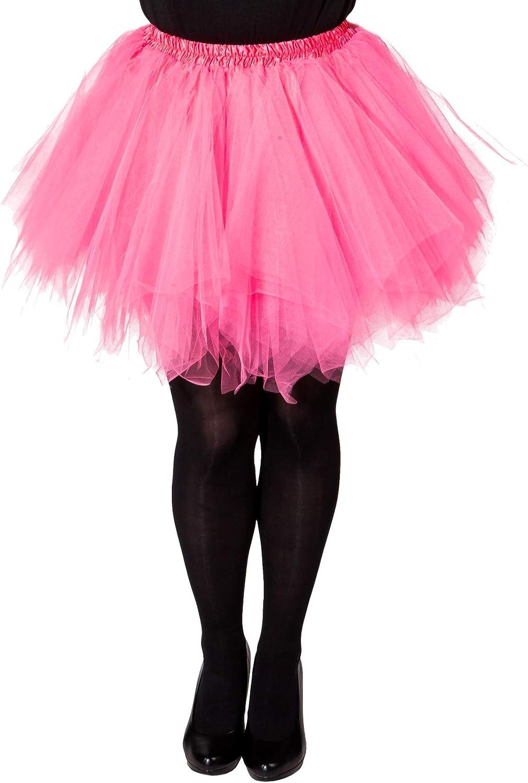 Orlob Falda de Mujer tutú Ballet Rosa Talla S/M Falda de Tul ...