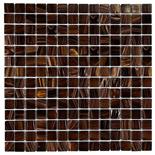 SomerTile GDRCOBRG Fused Glass Mosaic Wall Tile, 12