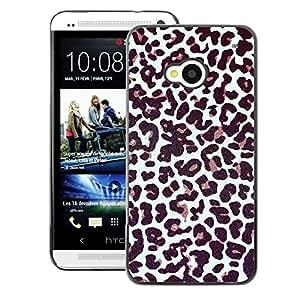 A-type Arte & diseño plástico duro Fundas Cover Cubre Hard Case Cover para HTC One M7 (Fur Pattern Dots Animal Fashion)