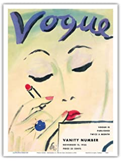 Vogue Cover - November 15, 1933 - Vintage Magazine Cover by Carl Erickson c.