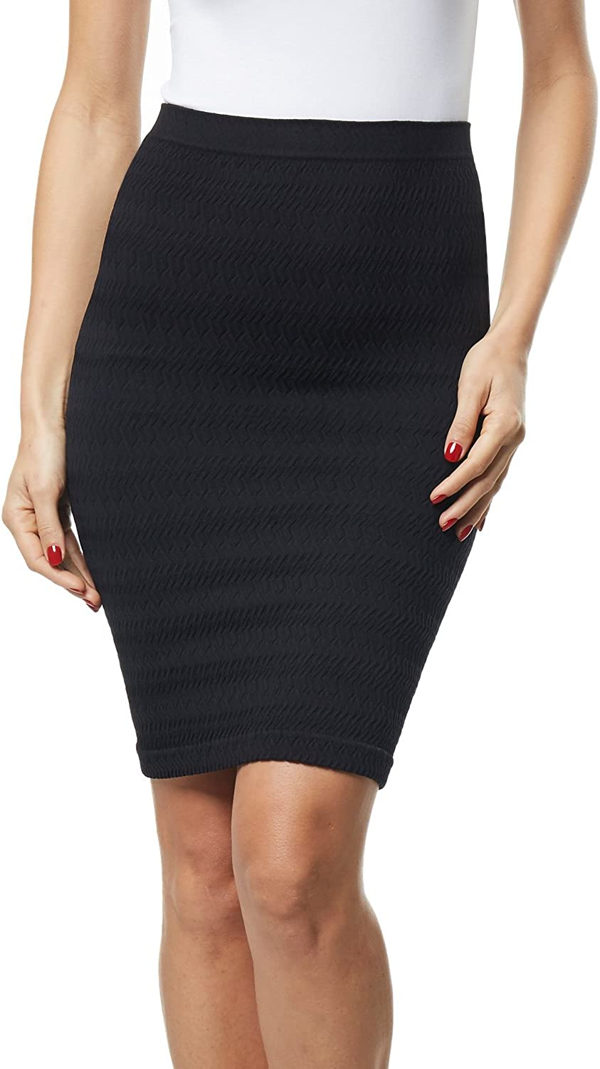 Beilini Women's Office Skirt Stretch Midi Short Fit Solid Pencil Skirt