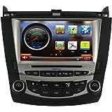 Koolertron Car DVD GPS Navigation System Car Video For 7 th 2003 2004 2005 2006 2007 Honda Accord Dual Zone 8 Inch Digital HD Touchscreen