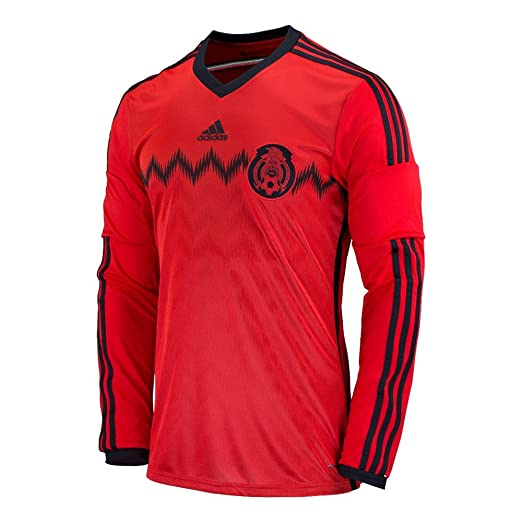 cdd34301f62 Amazon.com   ADIDAS MEXICO AWAY SOCCER JERSEY 2014 LONG SLEEVE   Clothing