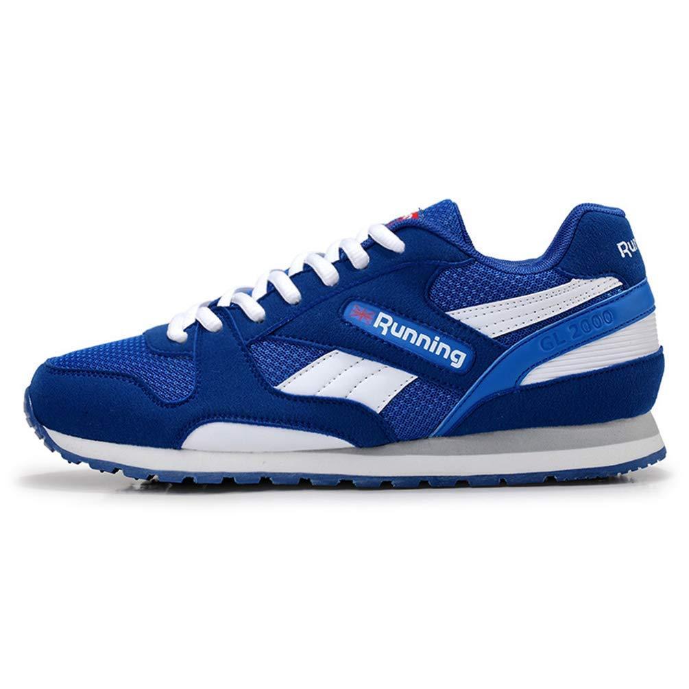 ZHRUI Herren Laufschuhe Atmungsaktive Turnschuhe Damen Sportschuhe (Farbe   Blau Men, Größe   7 UK)