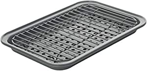 Chicago Metallic Nonstick Toaster Oven Bakeware Set, 3-Piece, Gray