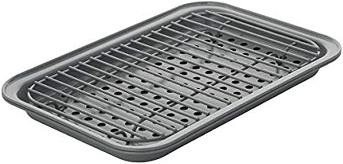 Chicago Metallic Nonstick Toaster Oven Bakeware Set, 3-Piece, Gray