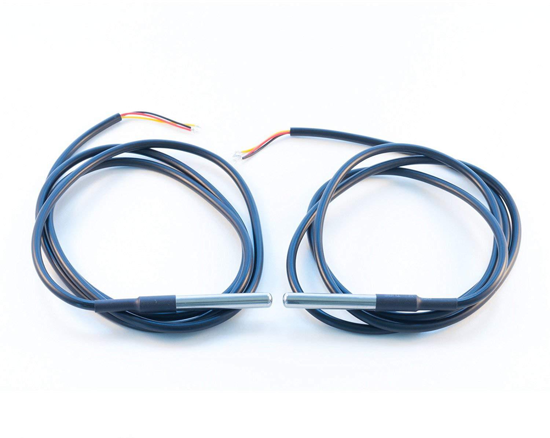 Cable DS18B20 Sensor de Temperatura Digital de Acero Inoxidable Sensor de Temperatura Resistente al Agua 5 Unidades