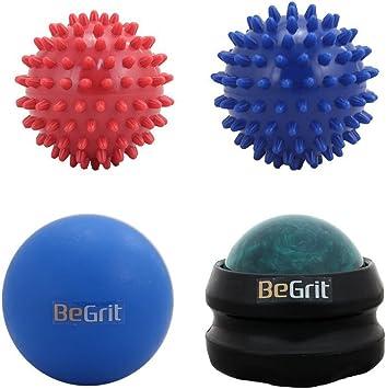 Juego de rodillo de bolas de masaje BeGrit, 1 Lacrosse, 1 rodillos ...