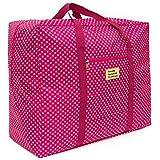 Ad Fresh 1piecs Foldable Waterproof Large Capacity Travel Luggage Shopping Handbag (Dotted)