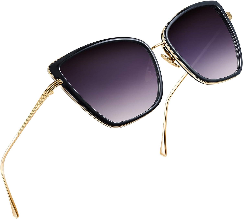Joopin Oversized Cateye Sunglasses for Women, Fashion Metal Frame Cat Eye Womens Sunglasses