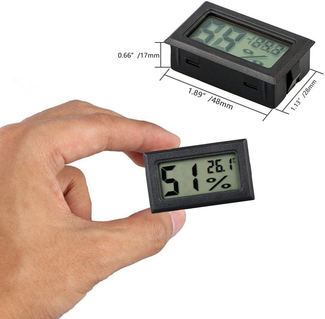Qiman Mini 58mm Thermometer /& Hygrometer Legierung Aluminium Temperatur Luftfeuchtigkeitsmesser F/ür Den Haushalt Saunaraum
