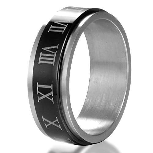 Amazon.com: MCSAYS - Anillo de acero inoxidable con ...