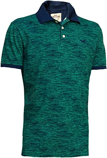 Hollister hombre con textura Slim Fit Pique Polo Shirt Tee ...