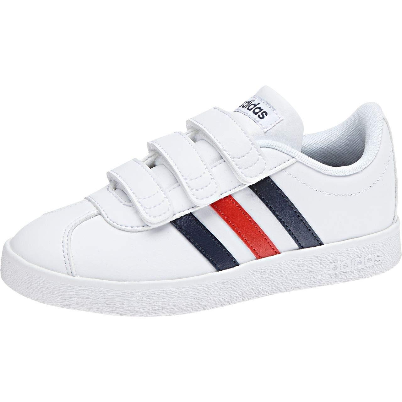 Adidas VL Court 2.0 CMF C, Chaussures de Fitness Mixte Enfant, Blanc Blanc (Ftwbla/Maruni/Rojbas 000) 31 EU DB1838