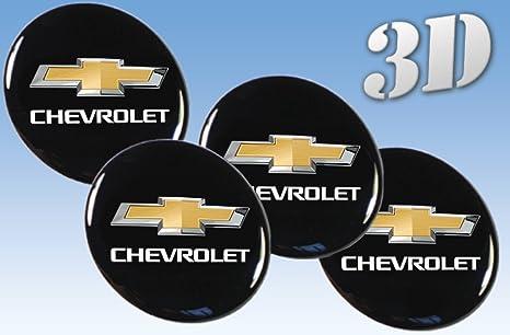 Rueda Pegatinas Chevrolet todos los tamaño centro tapa tapacubos Logo insignia 3d