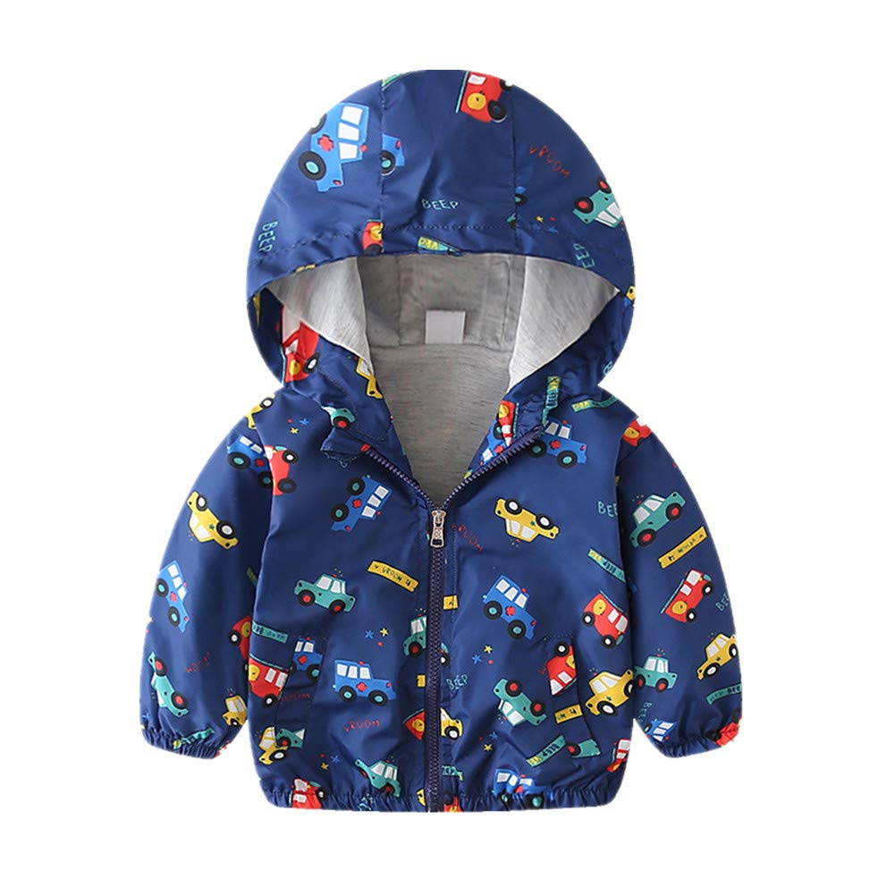 Beide Baby Boys Girls Windbreaker Jacket Lightweight Hoodie Coat