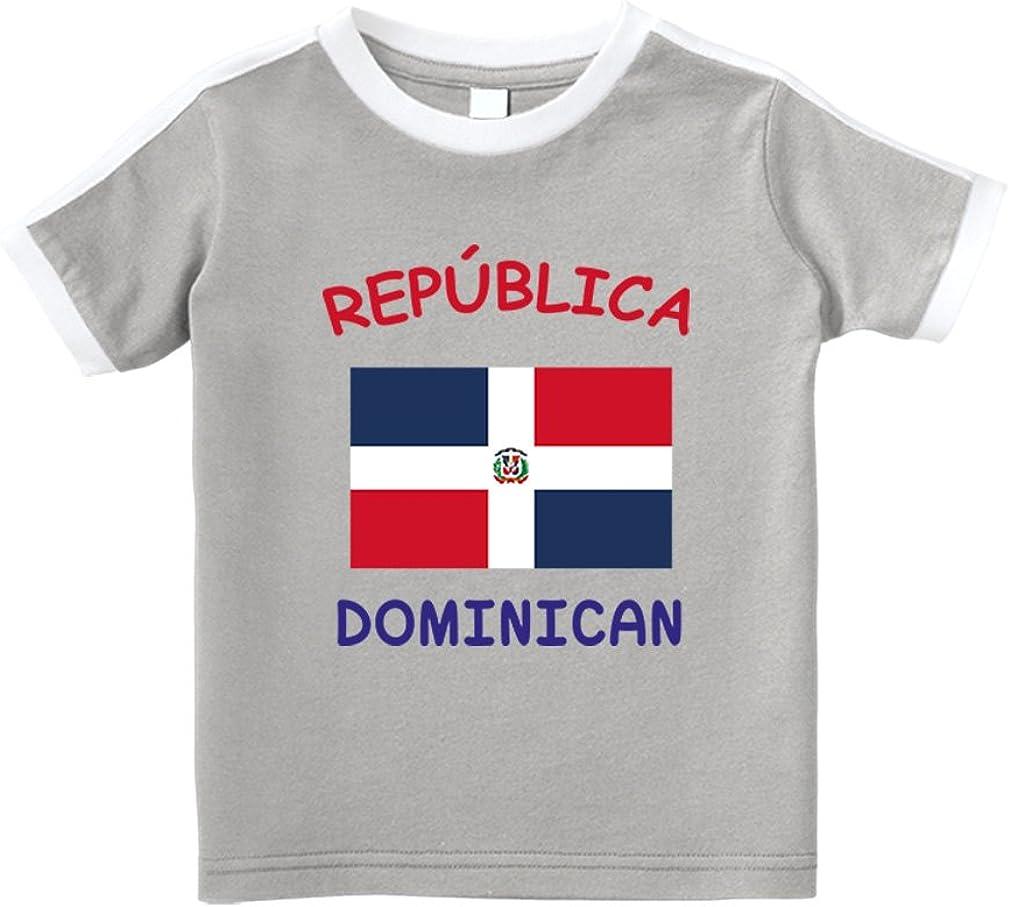 Cute Rascals Rep/ública Dominicana Dominican Republic #2 Cotton Toddler T-Shirt Soccer Tee