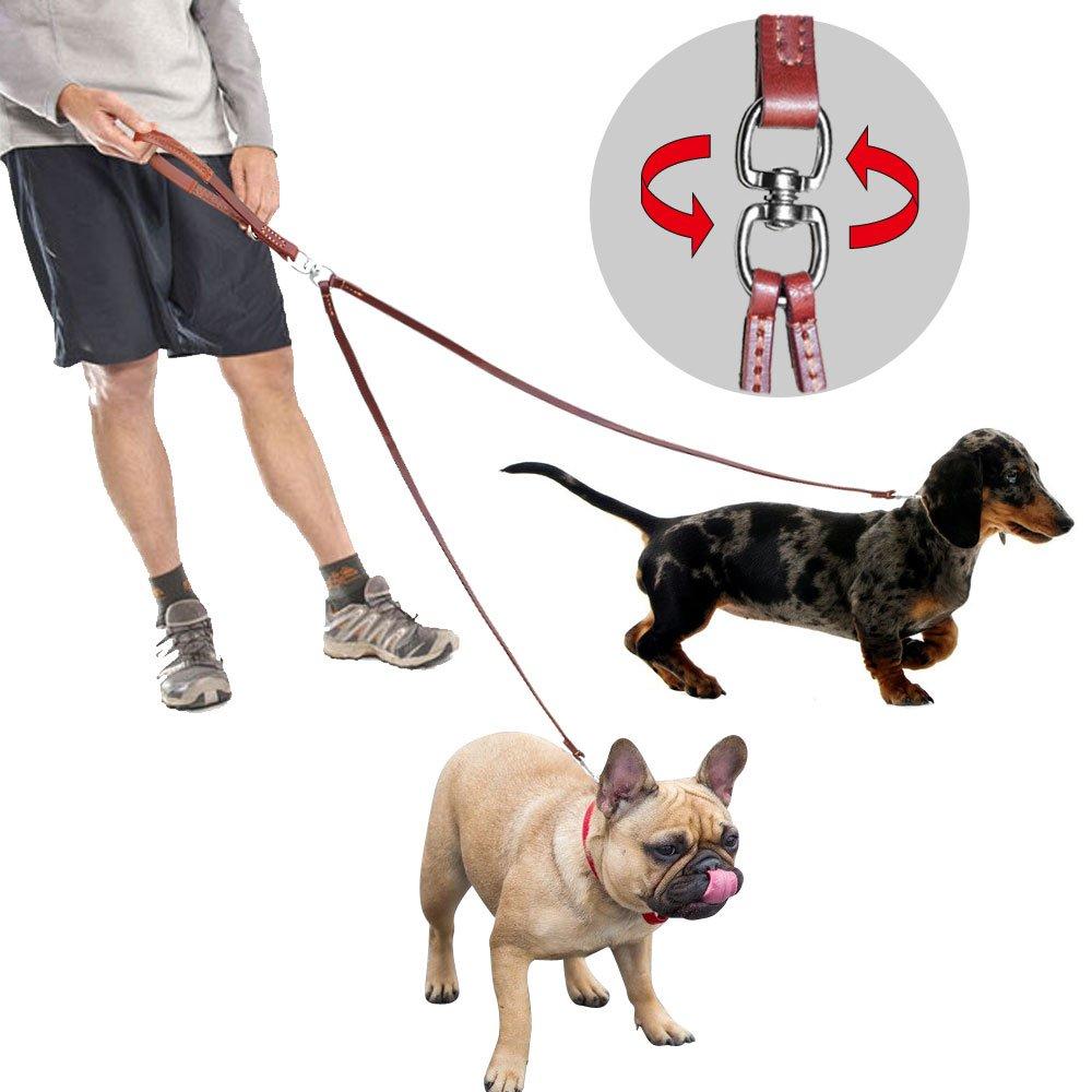 PET ARTIST 2 Way Tangle Free Dog Leash Small&Medium Dogs Walking Training