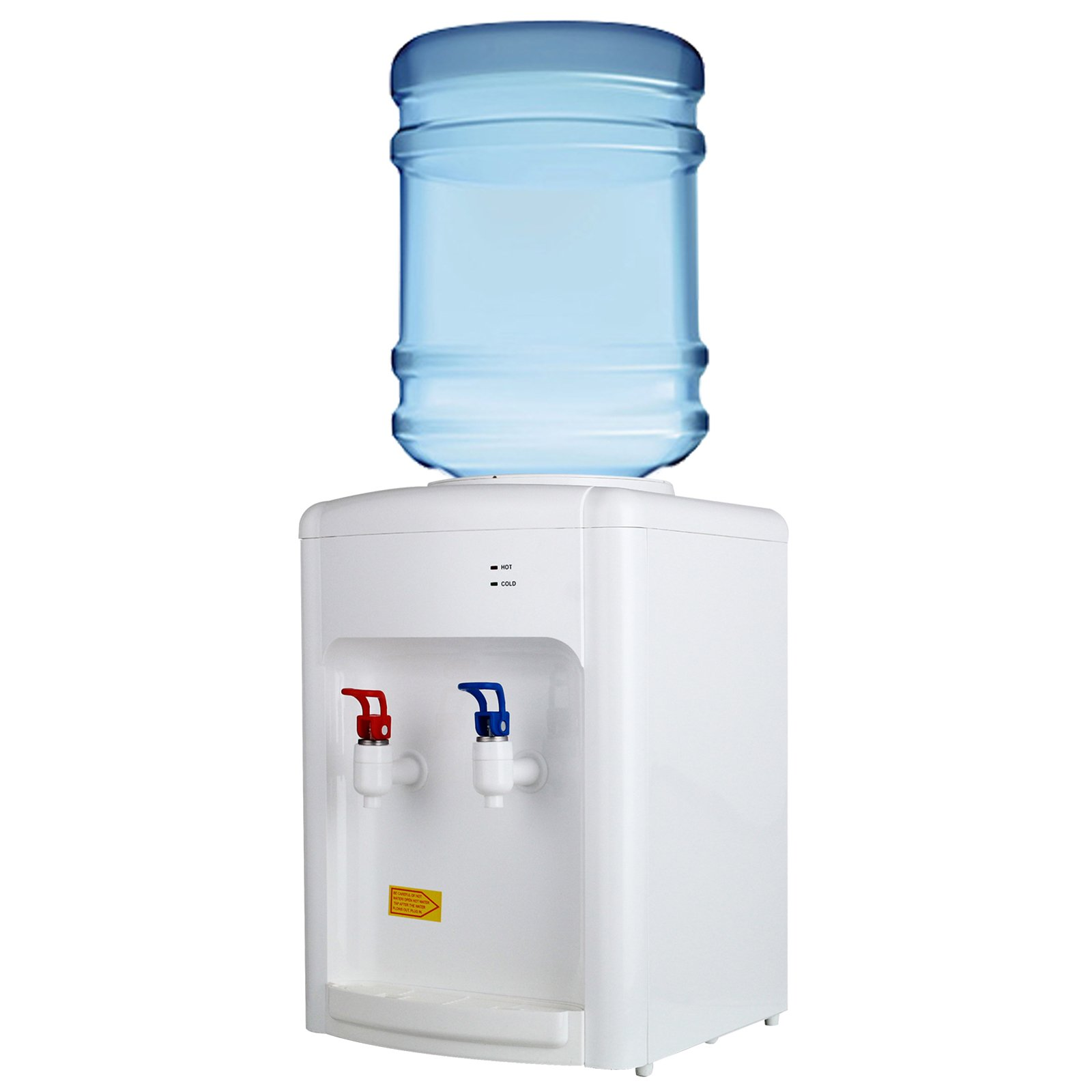 KUPPET 3-5 Gallon Countertop Water Cooler Dispenser-Hot & Cold Water, Idea For Home Office Use, White (16.14inch)