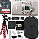 Canon PowerShot ELPH 360 HS (Silver) with 12x Optical Zoom and Built-In Wi-Fi, Ritz Gear Flexi Tripod, Lowepro Case, Lexar 16GB and Accessory Bundle