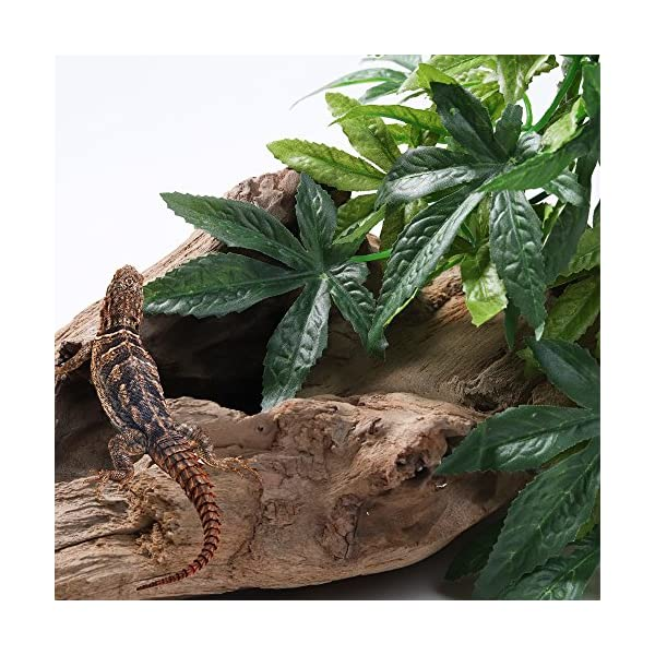 SLSON Reptile Plants Hanging Terrarium Plants Fake Reptiles Climbing Plant for Bearded Dragons,Lizards,Geckos,Snake Pets and Hermit Crab Tank Habitat Decorations,Large Size,20 inches 6