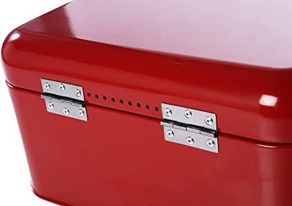 Pasteles contenedor de Almacenamiento Retro Vendimia para Pan Juvale Retro encimera panera Rojo 30,5 x 18,5 x 16 cm
