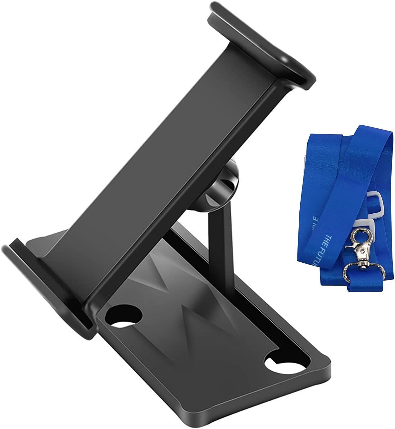 LEMONPET for DJI Spark, Mavic Pro, Mavic Air, Mavic 2 Pro, Mavic 2 Zoom Tablet/Phone Holder, Aluminum-Alloy Foldable Holder Extender 4-12 inches Tablet/Phone Stander Holder + Neck Strap