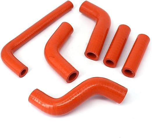 Fast Pro Schnell Pro Silikon Heizkörper Kühlmittel Verstärkte Schläuche Kit Für 400 450 525 Exc 02 06 Orange Auto