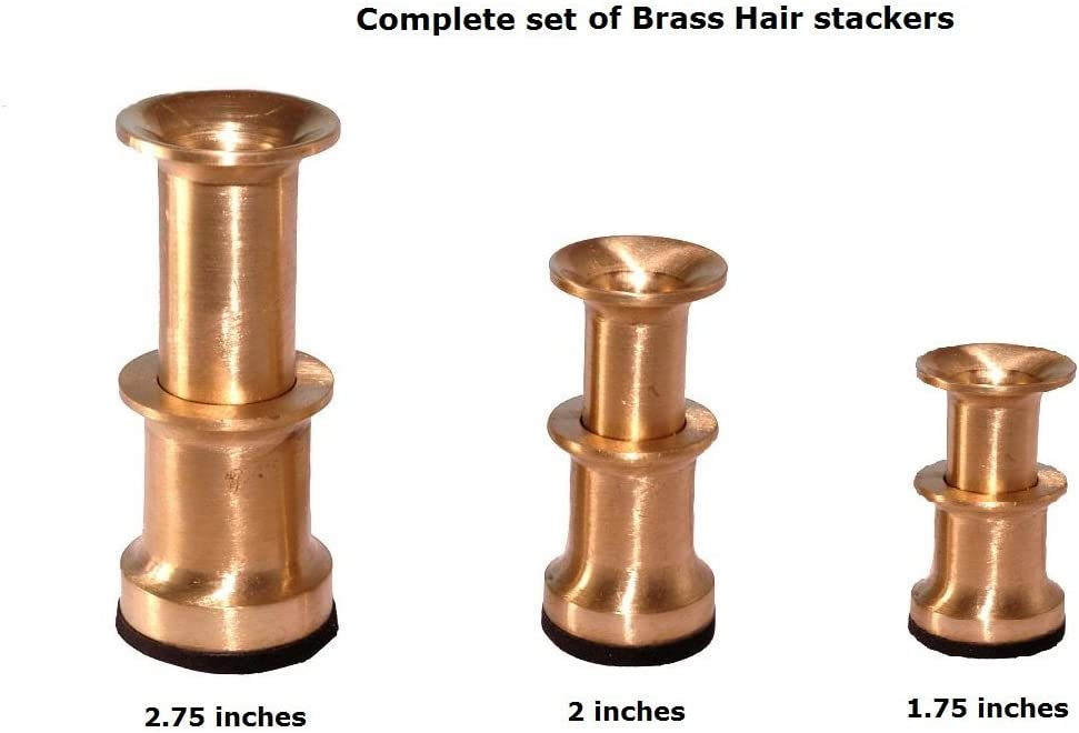 Brass Fly Tying Tool Kit Hair Stacker for Outdoor Fly Fishing