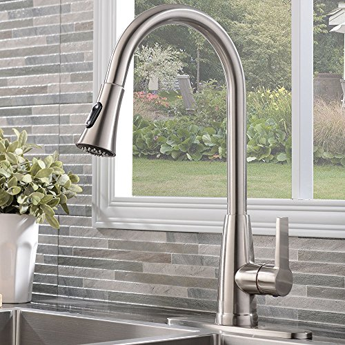 kitchen faucet nickel - 8