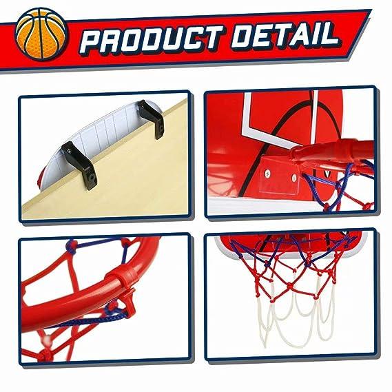 Amazon.com: Juego de aros de baloncesto para puerta (15 x ...