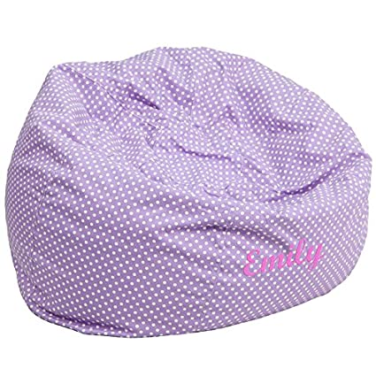 Genial Flash Furniture Personalized Oversized Lavender Dot Bean Bag Chair