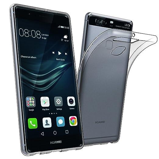 13 opinioni per Huawei P9 Custodia Cover, Elekin Huawei P9 Silicone Caso Molle di TPU Cristallo