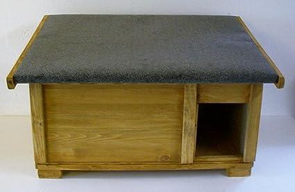 Gato Casa totalmente aislados con 20 W Calefacción