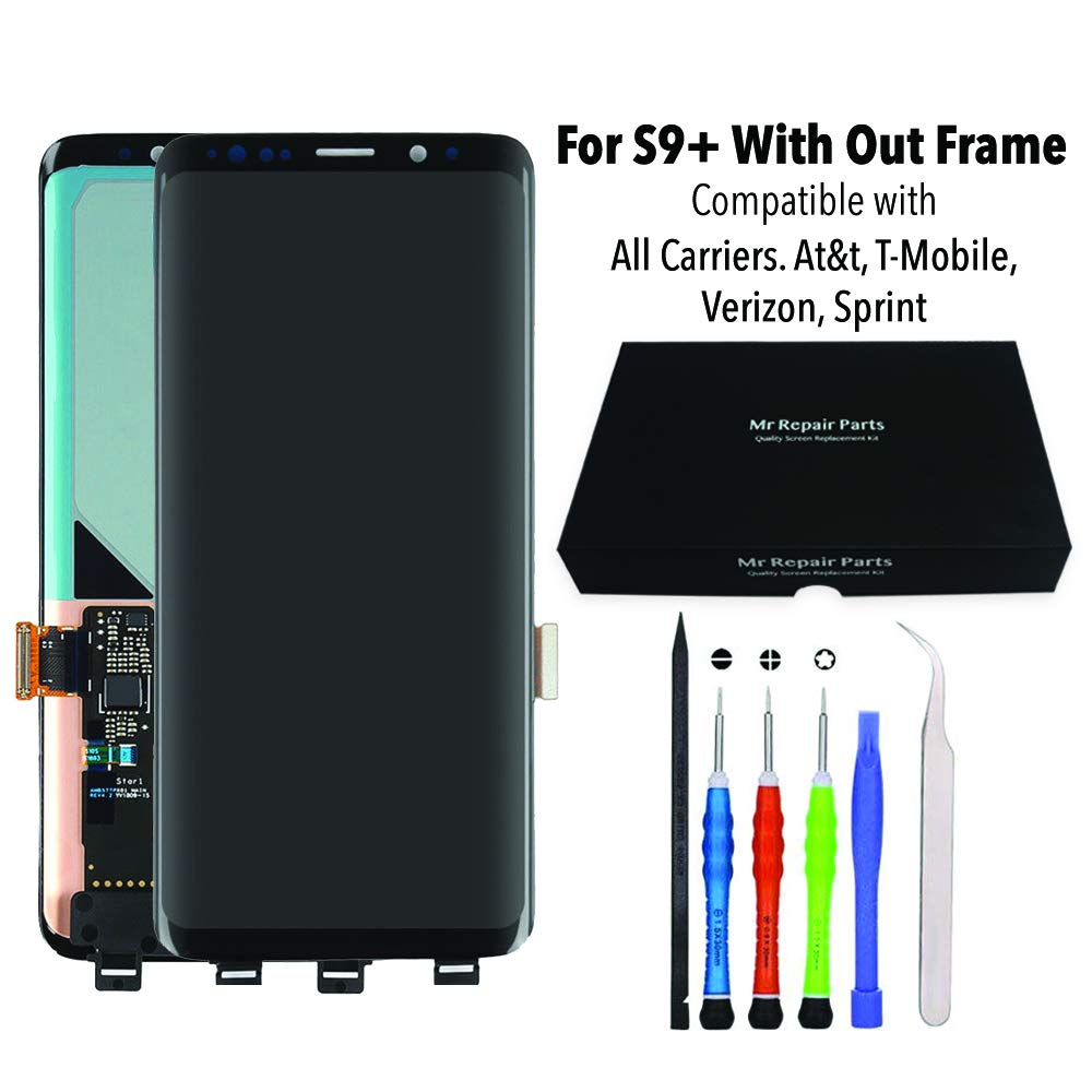 for Samsung Galaxy S9 Plus LCD Screen Replacement Display Touch Digitizer Assembly + Repair Tools, Compatible with All Carriers At&t, T-Mobile, Verizon, Sprint