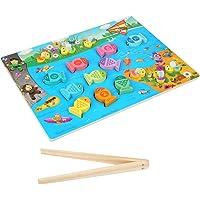 TOYANDONA Magnetic Fishing Game Montessori Skills Color Sorting Clip Beads Counting Preschool Education Preschool…