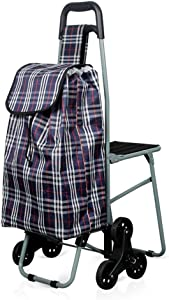 KFDQ Old Person Shopping Trolleys,Convenient Shopping Cart Pull Cart Small Cart Old Folding Cart Trolley Trailer Trolley Cart Pull Goods Home