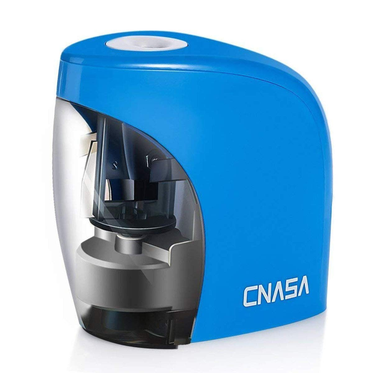 CNASA Electric Pencil Sharpener, Auto Pencil Sharpener with Battery Operated, Small and Durable, Kid Friendly (Blue)