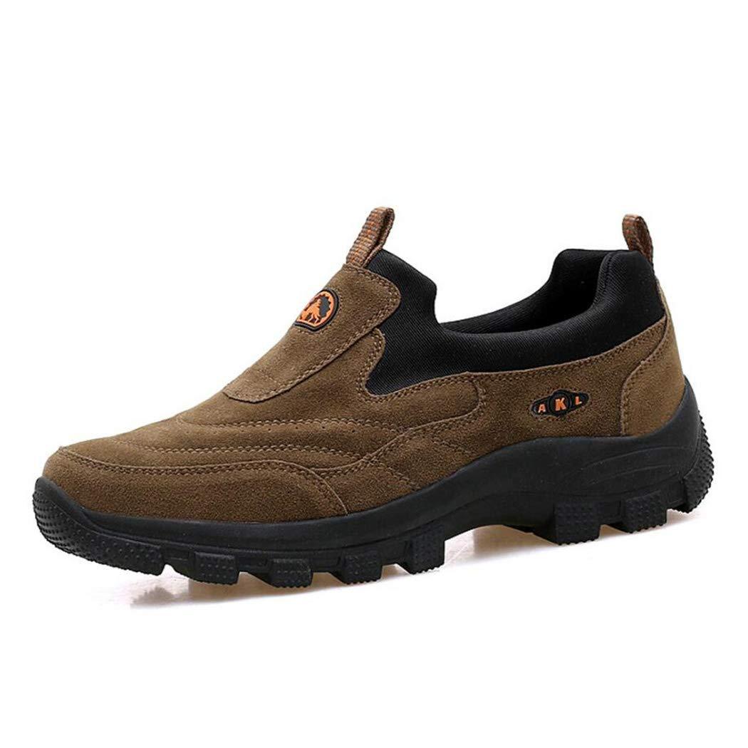 Zxcvb Wildleder Wanderschuhe, Männer und Frauen Wildleder Mode Turnschuhe, Outdoor-Sport Slip auf Schuhe, Freizeitschuhe - Atmungsaktiv, Rutschfest