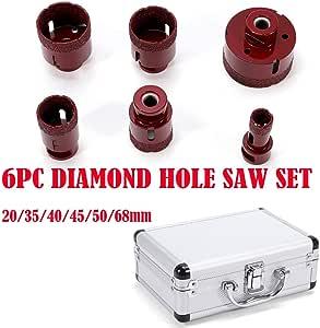 Juego de brocas de diamante (6 piezas, puntas de perforación M14, brocas de diamante) para amoladora angular Diámetro 20 – 68 mm: Amazon.es: Bricolaje y herramientas