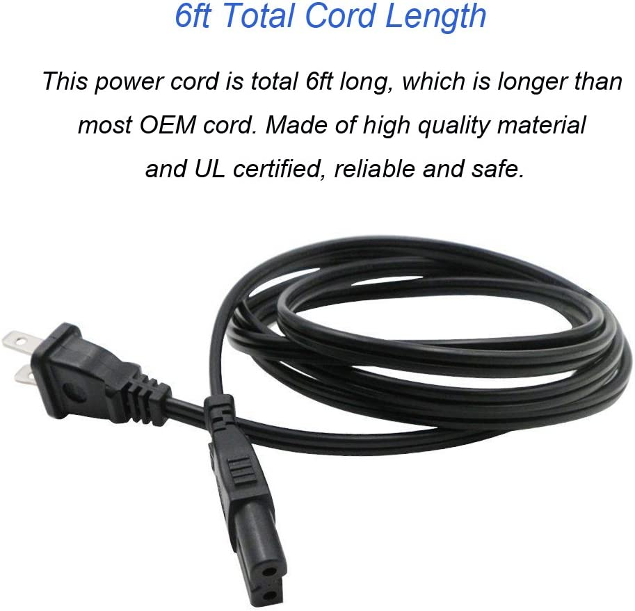Antoble 6ft AC Power Cord Cable Plug for Bose AWRCC1 AM//FM Wave Music Radio Replacement Cable Wire Stereo UL Certified