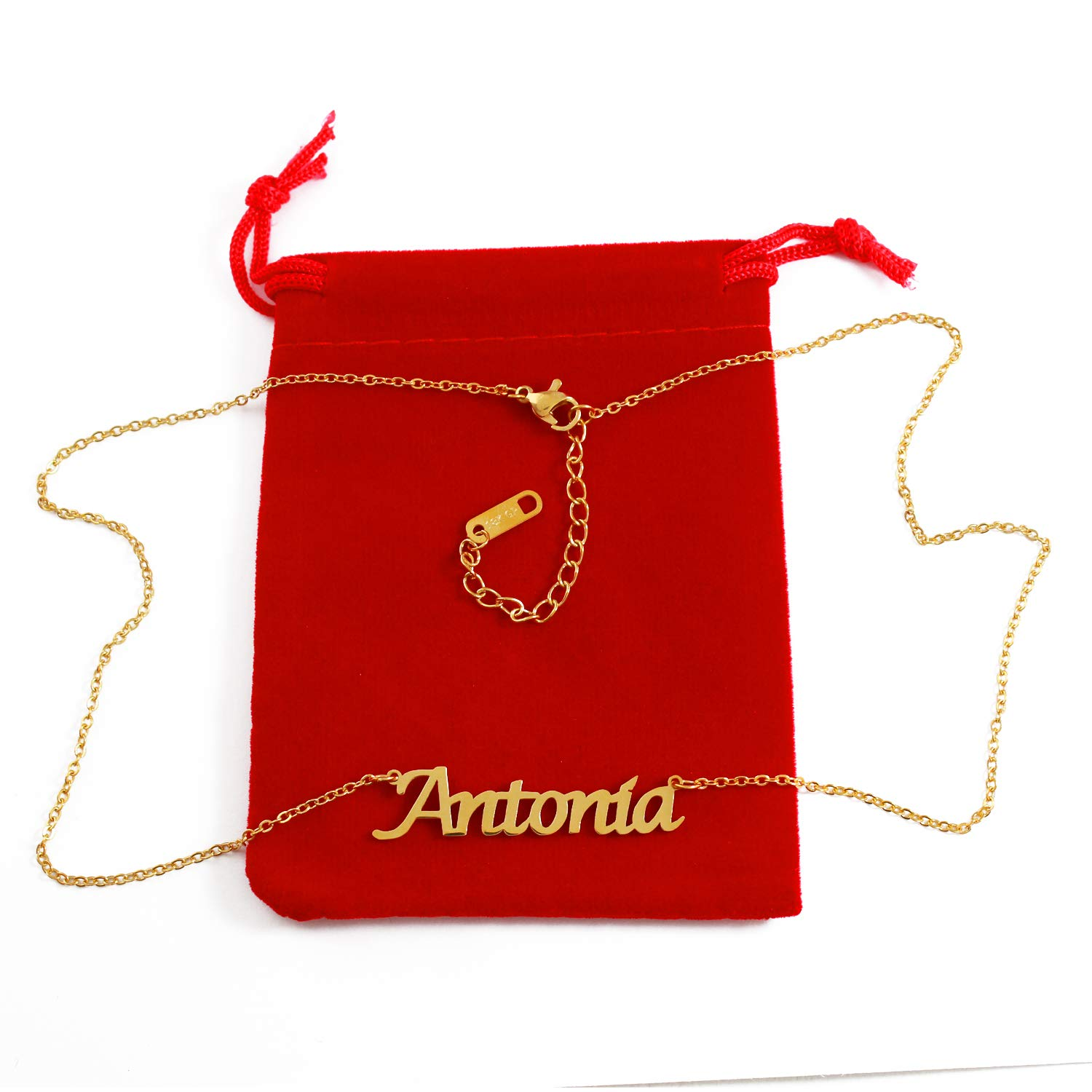 18ct Gold Plated Kigu Antonia Custom Name Necklace Personalized