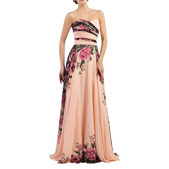 TOYIS Long Evening Wedding Bridesmaid Dress for Women Maxi Ball Gowns Prom Dress: Amazon.co.uk: Clothing